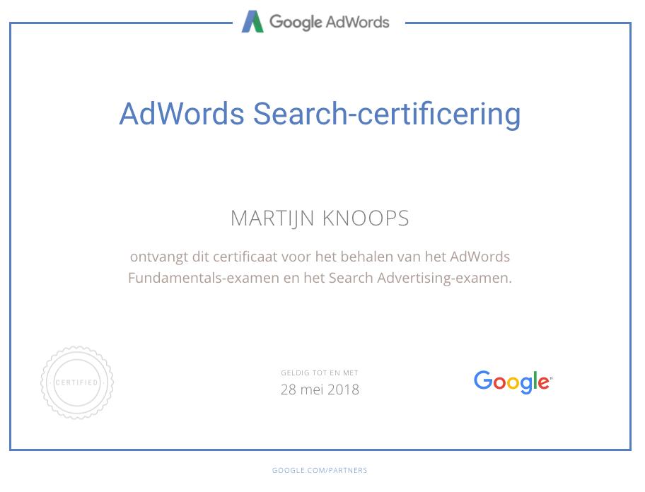 AdWords_Certificaat