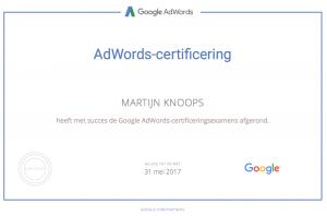 Google AdWords Certificat