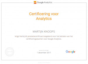 Google Analytics Certificat