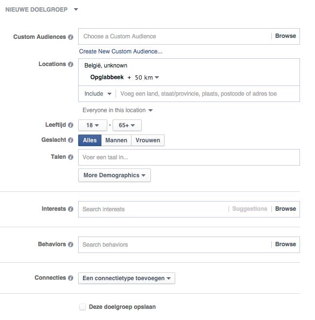 Facebook parameters