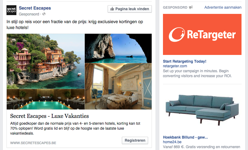 Gesponsorde post Facebook
