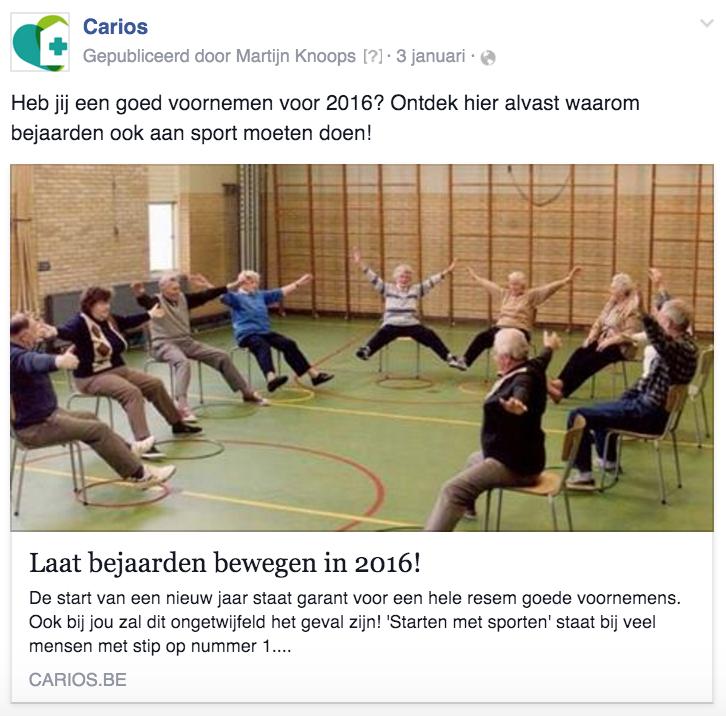 Facebook interactie