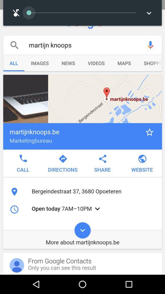 Google Mijn Bedrijf Mobiel