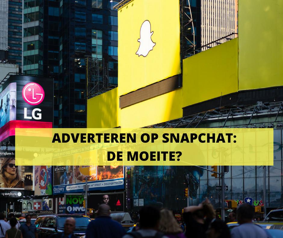 Snapchat - adverteren